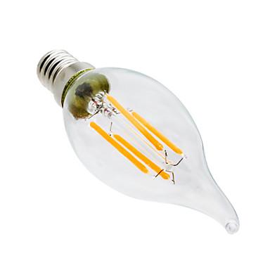 ywxlight® 4w e14 führte kerze lichter ca35 4 leds cob dimmbare dekorative warmweiß 300-400lm 2800-3200k ac 220-240 v