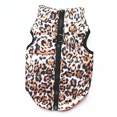 Katze Hund Mäntel T-shirt Pullover Weste Hundekleidung Party Lässig/Alltäglich warm halten Sport Leopardenmuster Leopard