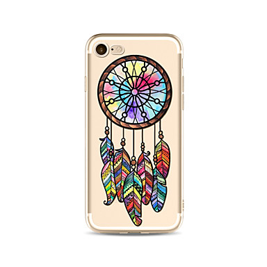 hoesje Voor Apple iPhone X iPhone 8 Plus Transparant Patroon Achterkantje Dromenvanger Zacht TPU voor iPhone X iPhone 7s Plus iPhone 8