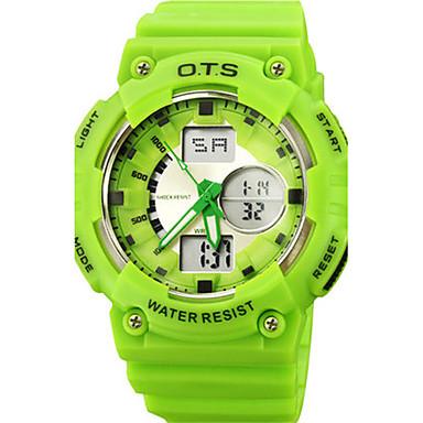 للرجال ساعة رياضية رقمي مطاط فرقة أسود البرتقال أخضر