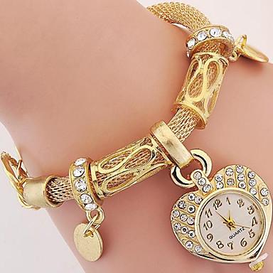 للمرأة ساعة المعصم ساعه اسورة ساعات فاشن رقمي معدن فرقة فضة ذهبي