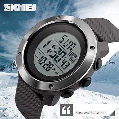 Недорогие Часы на кожаном ремешке-Муж. Спортивные часы Модные часы Нарядные часы Кварцевый Цифровой силиконовый Натуральная кожа Разноцветный 50 m Календарь Секундомер Творчество Цифровой Кулоны Классика На каждый день -  / Два года