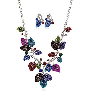 Damen Halskette / Ohrringe Metalllegierung Strass Aleación Irregulär Blume Blumig Blumen Stil Anhänger Stil Böhmische Blumen