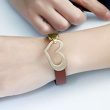 Dames Armbanden met ketting en sluiting Bedelarmbanden Lederen armbanden Vintage Turks Modieus Ijzerlegering polyresin Leder Rechthoekig