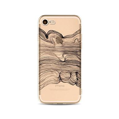 Maska Pentru Apple iPhone X iPhone 8 Plus Transparent Model Carcasă Spate Linii / Valuri Moale TPU pentru iPhone X iPhone 8 Plus iPhone 8