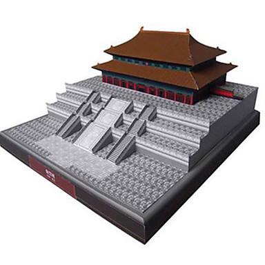قطع تركيب3D نموذج الورق بناء مشهور الزراعة الصينية معمارية المدينة المحرمة اصنع بنفسك ورق صلب استايل صيني للأطفال صبيان للجنسين هدية