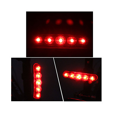 ضوء الدراجة الخلفي LED ركوب الدراجة الخارج AAA شمعة البطارية أحمر أخضر