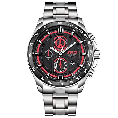 Bărbați Ceas Elegant Ceas La Modă Quartz Calendar Oțel inoxidabil Bandă Casual Argint