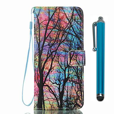 Hülle Für Samsung Galaxy S8 Plus S8 Kreditkartenfächer Geldbeutel mit Halterung Flipbare Hülle Muster Ganzkörper-Gehäuse Baum Hart