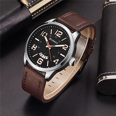 Herrn Einzigartige kreative Uhr Armbanduhr Kleideruhr Modeuhr Sportuhr Chinesisch Quartz Kalender Wasserdicht Großes Ziffernblatt Echtes