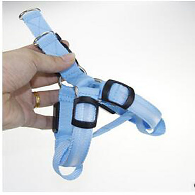 Knaagdieren Hond Kraag draagbaar Verstelbaar Flits Effen Nylon Oranje Geel Blauw