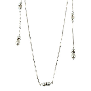 Pentru femei neregulat Formă Pandantiv Cute Stil Pearl dublu Imitație de Perle Coliere Choker Coliere cu Pandativ Lănțișoare Imitație de
