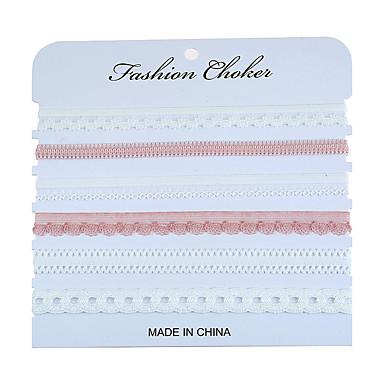 Damen Kronenform Halsketten - Polyester / Baumwolle 30D Chiffon Euramerican Kronenform Modische Halsketten Für Veranstaltung / Fest