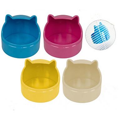 Knaagdieren Konijnen Chinchilla's Hamster Siliconen Voerbakken en drinkflessen Wit Geel Blauw Roze