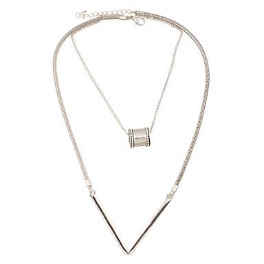 Pentru femei Formă Personalizat Stil Atârnat Pandantiv Coliere Choker Coliere cu Pandativ Coliere Ferroalloy Metalic Aliaj Metalic Ștras