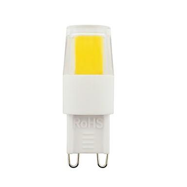 2W G9 أضواء LED Bi Pin T 1 المصابيح COB ديكور أبيض دافئ أبيض طبيعي أبيض 260-290lm 2800-6500K AC110 AC230V