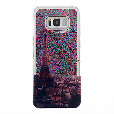 Hülle Für Samsung Galaxy S8 Plus S8 Mit Flüssigkeit befüllt Rückseitenabdeckung Eiffelturm Weich TPU für S8 S8 Plus S7 edge S7 S6 edge S6