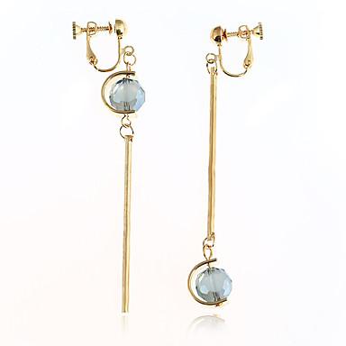 Dames Druppel oorbellen Kristal Uniek ontwerp Hangende stijl Ijzerlegering Ronde vorm Sieraden Voor Dagelijks gebruik Causaal Toneel