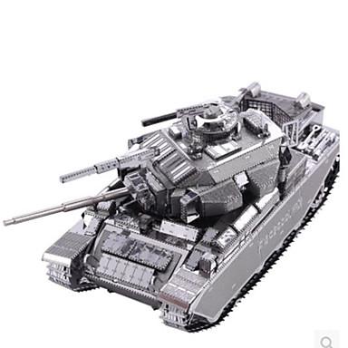 Speelgoedauto's 3D-puzzels Legpuzzel Metalen puzzels Tank Strijdwagen DHZ Aluminium Metaal Klassiek Unisex Geschenk