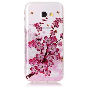 hoesje Voor Samsung Galaxy A5(2017) A3(2017) IMD Patroon Achterkantje Glitterglans Bloem Zacht TPU voor A3 (2017) A5 (2017)