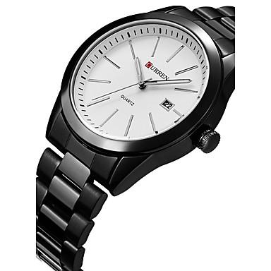 CURREN Herrn Sportuhr Modeuhr Armbanduhr Einzigartige kreative Uhr Armbanduhren für den Alltag Quartz Kalender Edelstahl Band Luxus