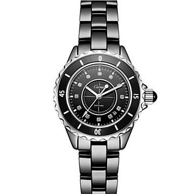 Dames Modieus horloge Kwarts Keramiek Band Zwart