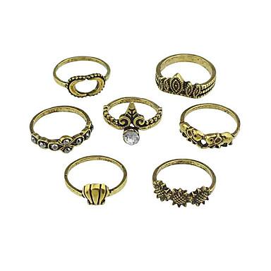 للمرأة خواتم حزام تصميم بسيط سبيكة Round Shape مجوهرات من أجل فضفاض
