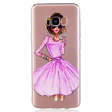 Maska Pentru Samsung Galaxy S8 Plus S8 Model Capac Spate Femeie Sexy Moale TPU pentru S8 Plus S8 S7 edge S7 S6 edge S6