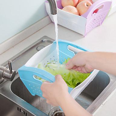 1pc bucatarie pliabila din plastic de spalat cutie de carton fructe și coș de legume