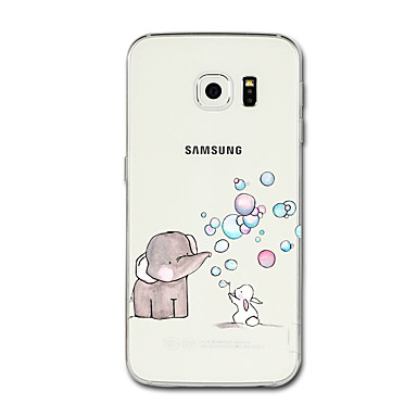 voordelige Galaxy S-serie hoesjes / covers-hoesje Voor Samsung Galaxy S8 Plus / S8 / S7 edge Transparant / Patroon Achterkant Cartoon / Olifant Zacht TPU