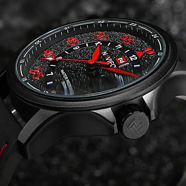 Herrn Modeuhr Armbanduhr Armbanduhren für den Alltag Chinesisch Quartz Kalender / Leder Band Charme Freizeit Cool Schwarz Braun
