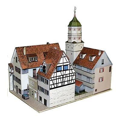 Puzzle 3D Lucru Manual Din Hârtie Clădire celebru Arhitectură Reparații Clasic Unisex Cadou