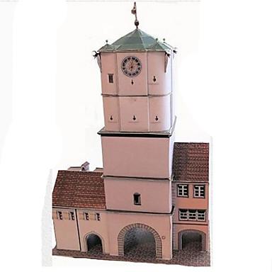 Puzzle 3D Modelul de hârtie Μοντέλα και κιτ δόμησης Lucru Manual Din Hârtie Jucarii Pătrat Clădire celebru Arhitectură 3D Reparații