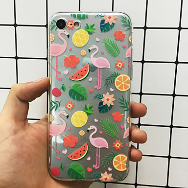 8 per iPhone Fenicottero Per Ultra 05876462 iPhone iPhone sottile Morbido X Per Custodia X TPU Fantasia Apple Frutta iPhone retro Plus 8 disegno Rx7WTad