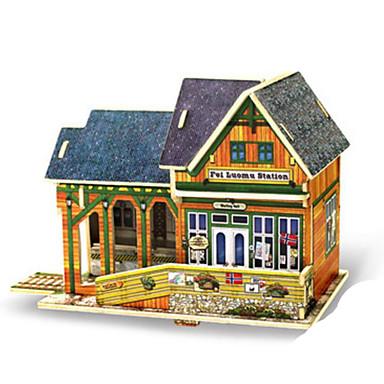 Robotime قطع تركيب3D تركيب النماذج الخشبية مجموعات البناء معمارية 3D اصنع بنفسك خشب كلاسيكي 6 سنوات فما فوق