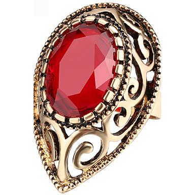 Dames Statementringen Ring Kristal Zirkonia Basisontwerp Uniek ontwerp Bergkristallen PERSGepersonaliseerd Euramerican Turks Luxe