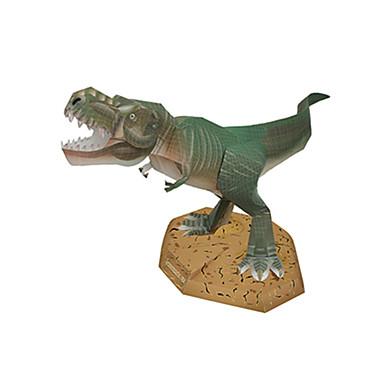 3D-puzzels Bouwplaat Modelbouwsets Tyrannosaurus Vierkant Dinosaurus DHZ Hard Kaart Paper Klassiek Jongens Unisex Geschenk