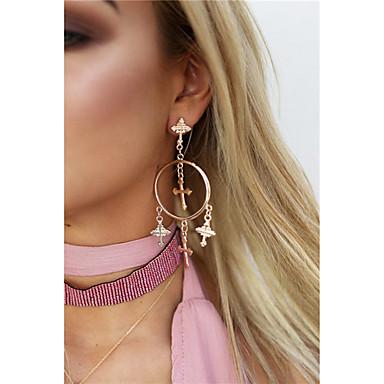 Damen Kreuz Ohrringe baumeln - Anhänger Stil / Anhänger / Retro Gold / Silber Ohrringe Für Alltag / Normal / Outdoor Kleidung