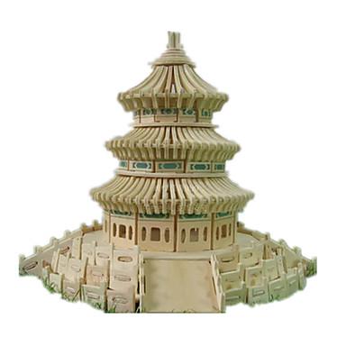 Puzzle 3D Puzzle Modele de Lemn Μοντέλα και κιτ δόμησης Clădire celebru Arhitectura Chineză Arhitectură Templul Paradisului Reparații De
