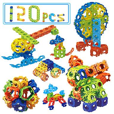 Bouwblokken Educatief speelgoed 120 pcs DHZ Vierkant Eagle Kinderen Unisex Geschenk