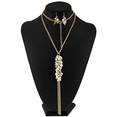 Damen Künstliche Perle Blume Schmuck-Set - Einzigartiges Design / Anhänger Stil / Quaste Weiß Perlenkette / Braut-Schmuck-Sets /