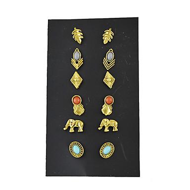 Damen Ohrstecker - Grundlegend Gold Ohrringe Für Normal