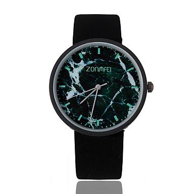 Heren Unieke creatieve horloge Polshorloge Modieus horloge Kwarts Hot Sale Stof Band Informeel Zwart