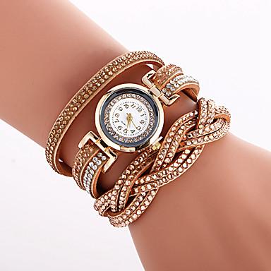 Dames Kwarts Armbandhorloge Hot Sale PU Band Amulet Luxe Vintage Creatief Informeel Uniek creatief horloge Elegant Modieus Cool Zwart Wit