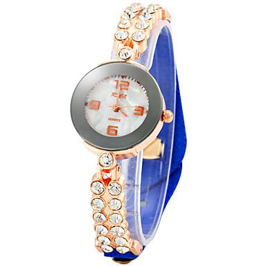 Pentru femei Ceas La Modă Unic Creative ceas Simulat Diamant Ceas Chineză Quartz imitație de diamant Piele Bandă Sclipici Negru Alb
