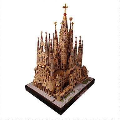 قطع تركيب3D نموذج الورق ألعاب مربع بناء مشهور Church معمارية اصنع بنفسك ورق صلب غير محدد قطع