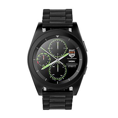 Heren Smart horloge Digitaal Roestvrij staal Band Zwart Zilver