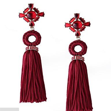 Damen Tropfen-Ohrringe Schmuck überdimensional EVA-Harz Aleación Geometrische Form Schmuck Für Hochzeit Party Kleid Festival