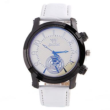 Heren Unieke creatieve horloge Polshorloge Modieus horloge Sporthorloge Vrijetijdshorloge Kwarts Leer Stof Band Amulet Luxe Creatief