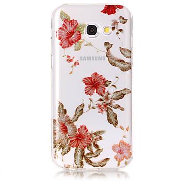Maska Pentru Samsung Galaxy A5(2017) A3(2017) IMD Model Carcasă Spate Luciu Strălucire Floare Moale TPU pentru A3 (2017) A5 (2017)